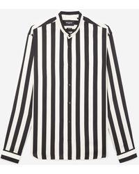 The Kooples Ecru Hemd Met Officierskraag En Zwarte Streep