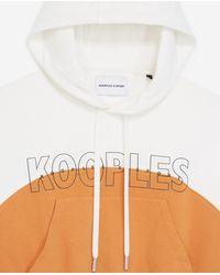 The Kooples Zweifarbiges Sweatshirt orange-ecru mit Logo - Mehrfarbig