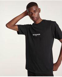 The Kooples Zwart Katoenen T-shirt Met Print