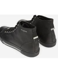 The Kooples Zwarte Hoge Sneakers Van Glad Leer