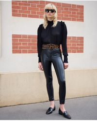 The Kooples - Fitted Jean-style Black Leather Trousers - Lyst