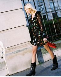 The Kooples - Long-sleeved Short Dress With Frills - Lyst