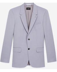 The Kooples Chaqueta lana violeta corte recto - Morado