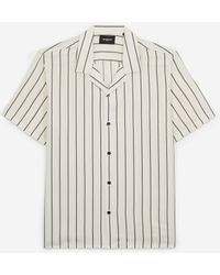 The Kooples - Flowing White Shirt With Black Stripes - Lyst