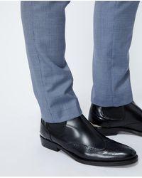 The Kooples Zwarte Chelsea Boots Met Brogue Detail