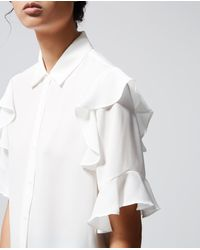 The Kooples White Dress Shirt With Frills