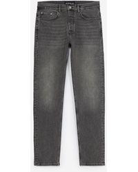 The Kooples Verwassen Grijze Jeans Met Slim Pasvorm - Grijs