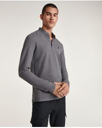 The Kooples Polo gris col officier monogramme gomme