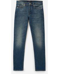 The Kooples Verwaschen blaue Destroy-Jeans & Etikett