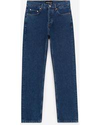 The Kooples Onbewerkte Donkerblauwe Jeans Rechte Pasvorm