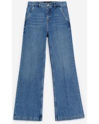 The Kooples Light Blue Straight-cut Jeans W/side Pockets