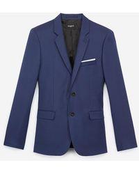The Kooples - Blauw Slim-fit Wollen Colbert - Lyst