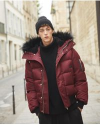094088db35c The Kooples - Red Padded Nylon Down Jacket - Lyst