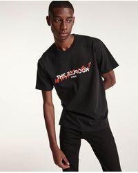The Kooples Schwarzes T-Shirt mit Logo und Schriftzug