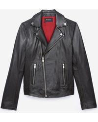 f588ad1e22f Women's The Kooples Leather jackets On Sale - Lyst