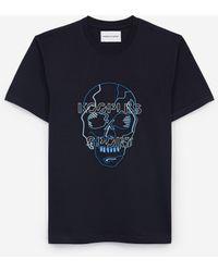 The Kooples Marineblauw T-shirt Van Katoen Met Borduursel