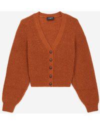 The Kooples Tobacco Brown Knit Cardigan