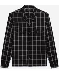 The Kooples Soepelvallend Hemd Met Zwart-wit Motief