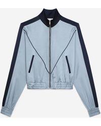 The Kooples Blauwe Sweater Met Contrasterende Banden