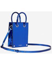 The Kooples Elektrisch Blauw Tasje Met Leereffect