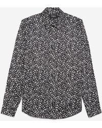 The Kooples Zwart Hemd Met Print Werveling Wit