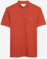 The Kooples Oranje Polo Met Oranjeachtige Afwerkingen - Rood