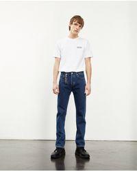 The Kooples Raw Straight-cut Dark Blue Jeans