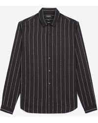 The Kooples Striped Black Shirt With Classic Collar