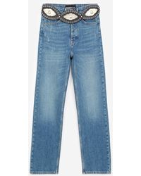 The Kooples Blue Cotton Jeans With Western Belt