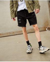 cdef78f3b Sinners Attire Ultra Ripped Denim Shorts in Black for Men - Lyst