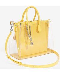 The Kooples Tasche Maxi Ming transparent Leder gelb - Mehrfarbig
