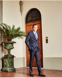 The Kooples Slim-fitting Black Wool Trousers Iced Effect - Blue
