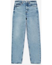 The Kooples Verwassen Blauwe Jeans Met Hoge Taille