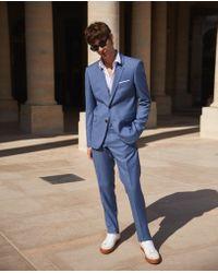 The Kooples - Slim-fit Blue Wool Blazer - Lyst
