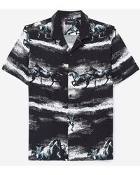The Kooples Flowing Black And White Shirt With Print