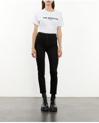 The Kooples Schwarze Jeans mit Knöpfen und Slim-Fit