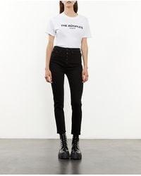 The Kooples Zwarte Skinny Jeans Met Knopen