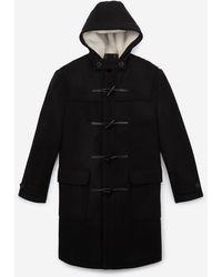 The Kooples Zwarte Wollen Duffelcoat