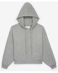 The Kooples Grijze Sweater Met Capuchon En All-over Stras - Grijs