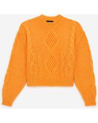 The Kooples Klassieke Oranje Mohair Trui