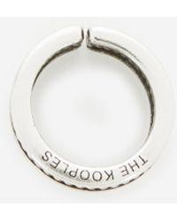 The Kooples Zilverkleurige Messing Ring Met Antieke Look - Metallic