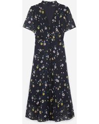 The Kooples - Light Formal Dress With Short Sleeves - Lyst