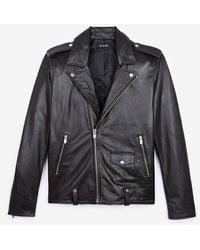 The Kooples Schwarze Bikerjacke aus Leder