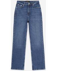 The Kooples Verwassen Blauwe Jeans Met Zilveren Studs