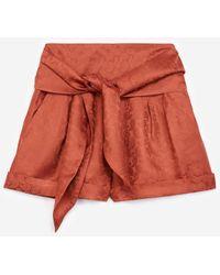 The Kooples Glanzende Roze Short Van Jacquard Taillelint - Rood