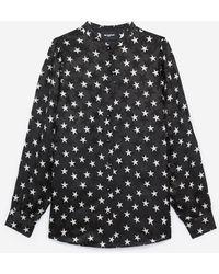 The Kooples Camisa negra manga tres cuartos - Negro
