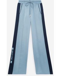 The Kooples Straight Flowing Blue Pants With Elastic