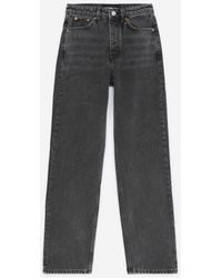 The Kooples Zwarte Verwassen Jeans Met Zijzakken