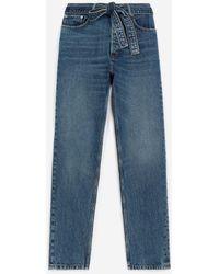 The Kooples Verwassen Blauwe Jeans Met Afneembare Riem