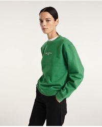 The Kooples Groene Sweater Met Zilveren Logo In Reliëf